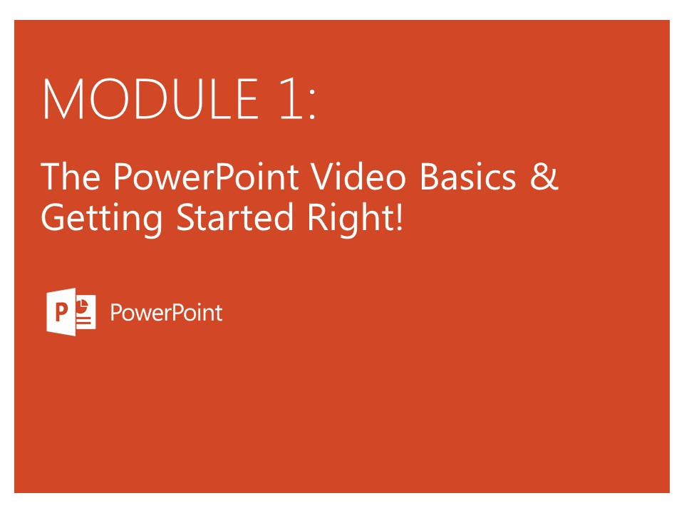 Powerpoint Video Mastery
